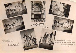 CPSM - M - INDRE ET LOIRE - MONTS - CHATEAU DE CANDE OU FUT CELEBRE LE MARIAGE DU DUC DE WINDSOR LE 3 JUIN 1937 - Francia