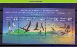 Mwe2604 FAUNA VOGELS BOOBY NODDY FRIGATEBIRD BIRDS VÖGEL AVES OISEAUX CHRISTMAS ISLAND 1993 Gebr/used - Marine Web-footed Birds