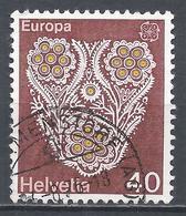 Switzerland 1976. Scott #614 (U) Europa, Cotton And Gold Lace, St. Gall * - Suisse