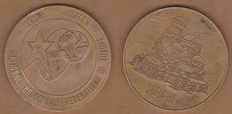 AC - NATIONAL BASKETBALL FEDERATIONS OF EUROPE XXXVI SESSION FIBA SOFIA 1991 BULGARIA MEDAL - PLAQUETTE - Apparel, Souvenirs & Other