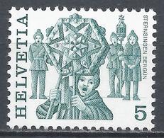 Switzerland 1977. Scott #632 (M) Folk Custom, Star Singer, Bergün * - Neufs