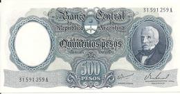 ARGENTINE 500 PESOS ND1964-69 AUNC P 278 - Argentina
