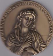 PORTUGAL MEDAL - BIMILENÁRIO DO NASCIMENTO DE NOSSA SENHORA - NASCIMENTO DA VIRGEM MARIA - RELIGION - Royal / Of Nobility