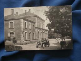 Thann  Bahnhof  Gare  Automobile - Animée - Circulée 1912 - R188 - Thann