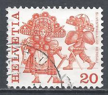 Switzerland 1977. Scott #634 (U) Folk Custom, New Year's Eve Costumes, Herisau * - Suisse