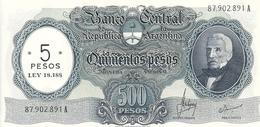 ARGENTINE 5 PESOS ND1969-71 AUNC P 283 - Argentina