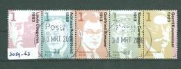Nederland 2013 * 3059-3063 * GEBRUIKT * COMBINATIE * BLOC *  Carmiggelt, Bomans, Kouwenaar, Couperus, Roland Holst - Period 2013-... (Willem-Alexander)