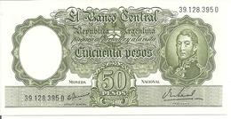 ARGENTINE 50 PESOS ND1968-69 UNC P 276 - Argentina