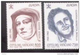 CEPT Berühmte Frauen / Famous Women Vatikan 1179 - 1180 ** Postfrisch, MNH, Neuf - Europa-CEPT