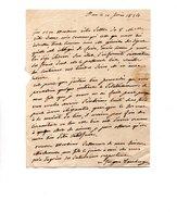 64 - PAU . NAVARRENX . LETTRE ADRESSÉE À MONSIEUR LE CHEVALIER DE ROBY . LE 10 FÉVRIER 1834 - Réf. N°9817 - - Manuscrits