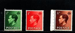 GREAT BRITAIN - 1936  EDWARD VIII  INVERTED WMK  SET  MINT NH - 1902-1951 (Re)