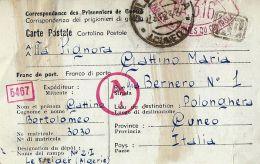 PRIGIONIERI POW CAMP DEPOT II LE KREIDER ALGERIA 1943 POLONGHERA - Posta Militare (PM)