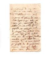 64 - PAU . NAVARRENX . LETTRE ADRESSÉE À MONSIEUR LE CHEVALIER DE ROBY . LE 23 SEPTEMBRE 1833 - Réf. N°9818 - - Manuscripts