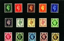 GREAT BRITAIN - 1937-47  KGVI DARK COLOURS   SET  MINT NH - Nuovi