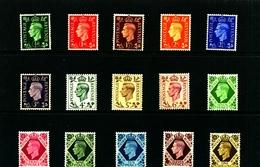 GREAT BRITAIN - 1937-47  KGVI DARK COLOURS   SET  MINT - Nuevos