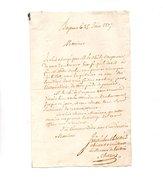 64 - BAYONNE . NAVARRENX . LETTRE ADRESSÉE À MONSIEUR LE CHEVALIER DE ROBY LE 25 JUIN 1827 - Réf. N°9820 - - Manuscripts
