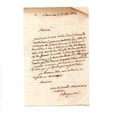 64 - NAVARRENX . LETTRE ADRESSÉE À MONSIEUR LE CHEVALIER DE ROBY LE 23 MAI 1834 . LAFARGUE CURÉ - Réf. N°9822 - - Manuscrits