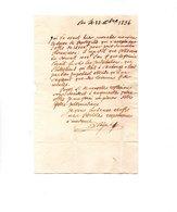 64 - PAU . NAVARRENX . LETTRE ADRESSÉE À MONSIEUR LE CHEVALIER DE ROBY LE 28 OCTOBRE 1834 - Réf. N°9823 - - Manuscripts