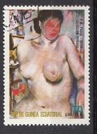 """75139 Guinea Equatoriale 1974  """" Desnudo """" - Quadro Dipinto Da P.M. Padua Equatorial Paintings Tableaux - Nudes"""