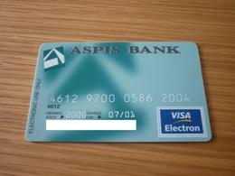 Greece Aspis Bank VISA Electron Debit Credit Card - Geldkarten (Ablauf Min. 10 Jahre)