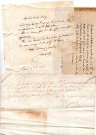 64 - NAVARRENX . 3 LETTRES ADRESSÉES À MONSIEUR LE CHEVALIER DE ROBY - Réf. N°116F - - Manuscripts