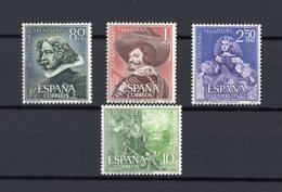 SPAGNA :  3° Centenario  Della Morte Di Velasquez   -  4  Val.  MNH**  Del   17.04.1961 - 1931-Oggi: 2. Rep. - ... Juan Carlos I