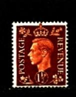 GREAT BRITAIN - 1937  KGVI  1 1/2d DARK COLOURS  WMK SIDEWAYS  FINE USED - Usati