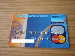 Commercial Bank Of Greece Emporiki Telebank Eurocard Mastercard Credit Card - Geldkarten (Ablauf Min. 10 Jahre)