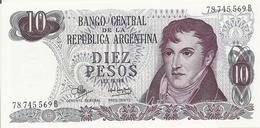 ARGENTINE 10 PESOS ND1970-73 UNC P 289 - Argentina