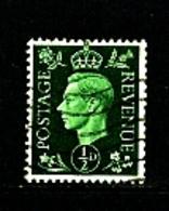 GREAT BRITAIN - 1937  KGVI   1/2d  DARK COLOURS  WMK INVERTED  FINE USED - Usati