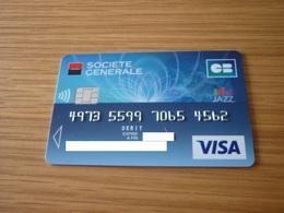 France Societe Generale Bank Jazz VISA Chip Credit Card - Geldkarten (Ablauf Min. 10 Jahre)