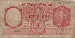 ARGENTINE 10 PESOS ND1942-54 VG+ P 265 - Argentine