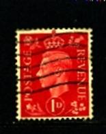 GREAT BRITAIN - 1937  KGVI   1d  DARK COLOURS  WMK INVERTED  FINE USED - Usati