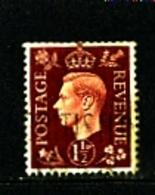 GREAT BRITAIN - 1937  KGVI   1 1/2d  DARK COLOURS  WMK INVERTED  FINE USED - Usati