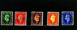 GREAT BRITAIN - 1937-47  KGVI   DARK COLOURS  WMK INVERTED  SET  FINE USED - Usati