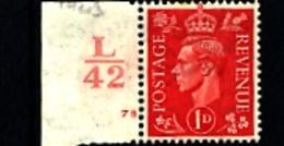 GREAT BRITAIN - 1941  KGVI   1d  LIGHT COLOURS  CONTROL  LK42  MINT - 1902-1951 (Re)