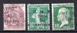 Col9  Syrie  Variete Sur 5 Timbres :  Surcharges Déplacées - Syria (1919-1945)