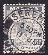 Malaysia-Negri Sembilan SG 29 1935 Arms, 8c Grey, Used - Negri Sembilan