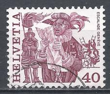 Switzerland 1984. Scott #638 (U) Folk Custom, Herald Reading Proclamation, Geneva * - Oblitérés