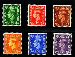 GREAT BRITAIN - 1941-42  KGVI  LIGHT COLOURS  SET  MINT - 1902-1951 (Re)