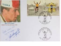 Carte Bristol Souvenir Centenaire Du TDF - Rik Van LOOY - Dédicace - Hand Signed - Autographe Authentique - - Cycling