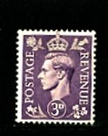 GREAT BRITAIN - 1941  3d  KGVI  LIGHT COLOURS  MINT  NH - 1902-1951 (Re)