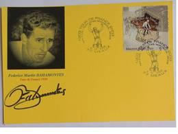 Carte Bristol Souvenir Centenaire Du TDF- Federico Martin BAHAMONTES - Dédicace - Hand Signed - Autographe Authentique - - Cycling