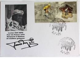 Carte Bristol Souvenir Centenaire Du TDF - Lucien Van IMPE - Dédicace - Hand Signed - Autographe Authentique - - Cycling