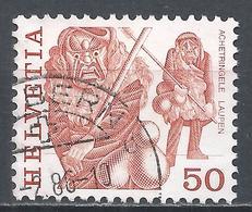 Switzerland 1977. Scott #640 (U) Folk Custom, Masked Men, Laupen * - Suisse