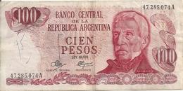 ARGENTINE 100 PESOS ND1971-73 VF P 291 - Argentine