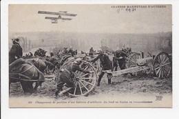 CPA MILITARIA Changement De Position D'une Batterie D'artillerie - Manoeuvres