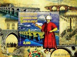 Bosnia & Herzegovina - Sarajevo - 2018 - Mehmed-Pasha Sokolovic - Mint Souvenir Sheet With Varnish And Embossing - Bosnia Erzegovina