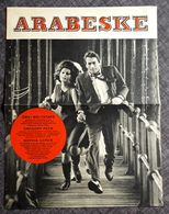 "Altes/Großes UNIVERSAL-Filmprogramm - SOPHIA LOREN & GREGORY PERCK In ""ARABESKE"" - TOP RARITÄT - 180590 - Magazines"