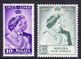 Malaysia-Negri Sembilan SG 40-41 1948 Royal Silver Wedding, Mint Light Hinged - Negri Sembilan